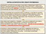 diffida accertativa per crediti patrimoniali