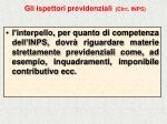 gli ispettori previdenziali circ inps41