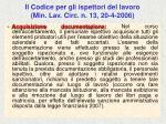 il codice per gli ispettori del lavoro min lav circ n 13 20 4 200674