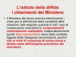 l istituto della diffida i chiarimenti del ministero27