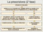 la prescrizione 2 fase