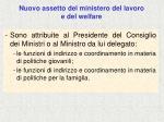 nuovo assetto del ministero del lavoro e del welfare4
