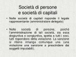 societ di persone e societ di capitali