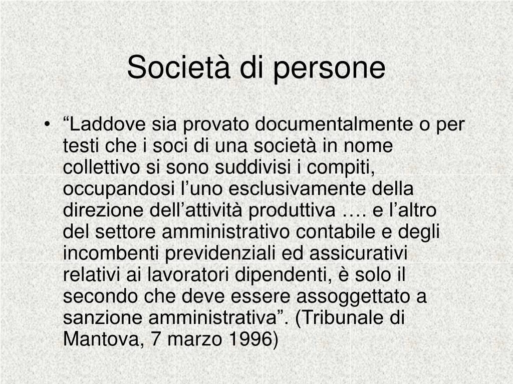 Società di persone