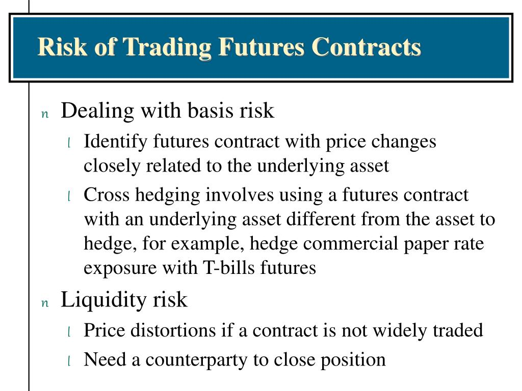 Risk of Trading Futures Contracts
