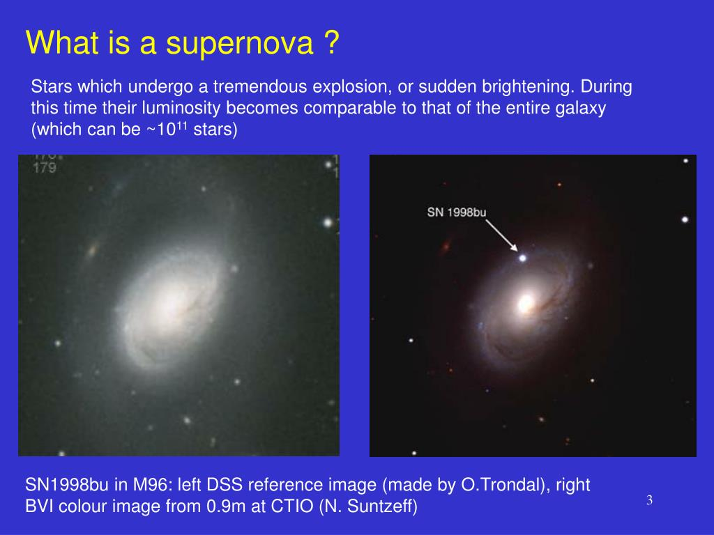 What is a supernova ?