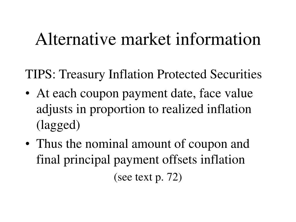 Alternative market information