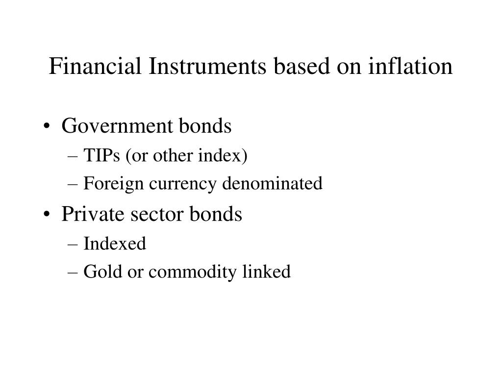 Financial Instruments based on inflation