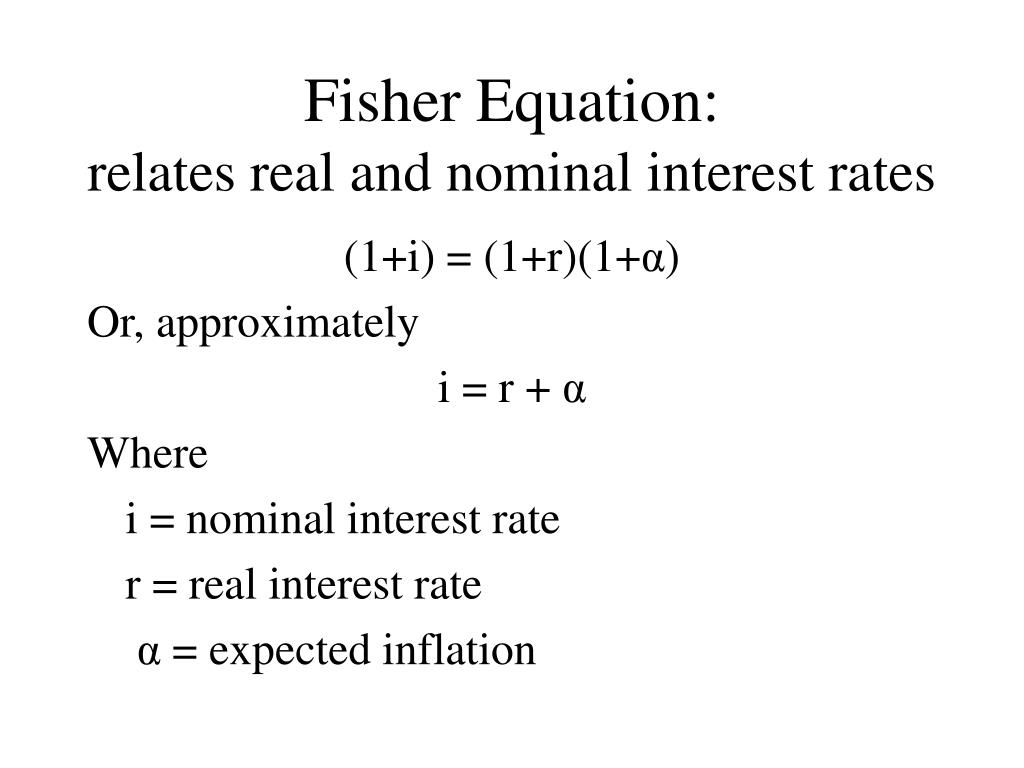 Fisher Equation: