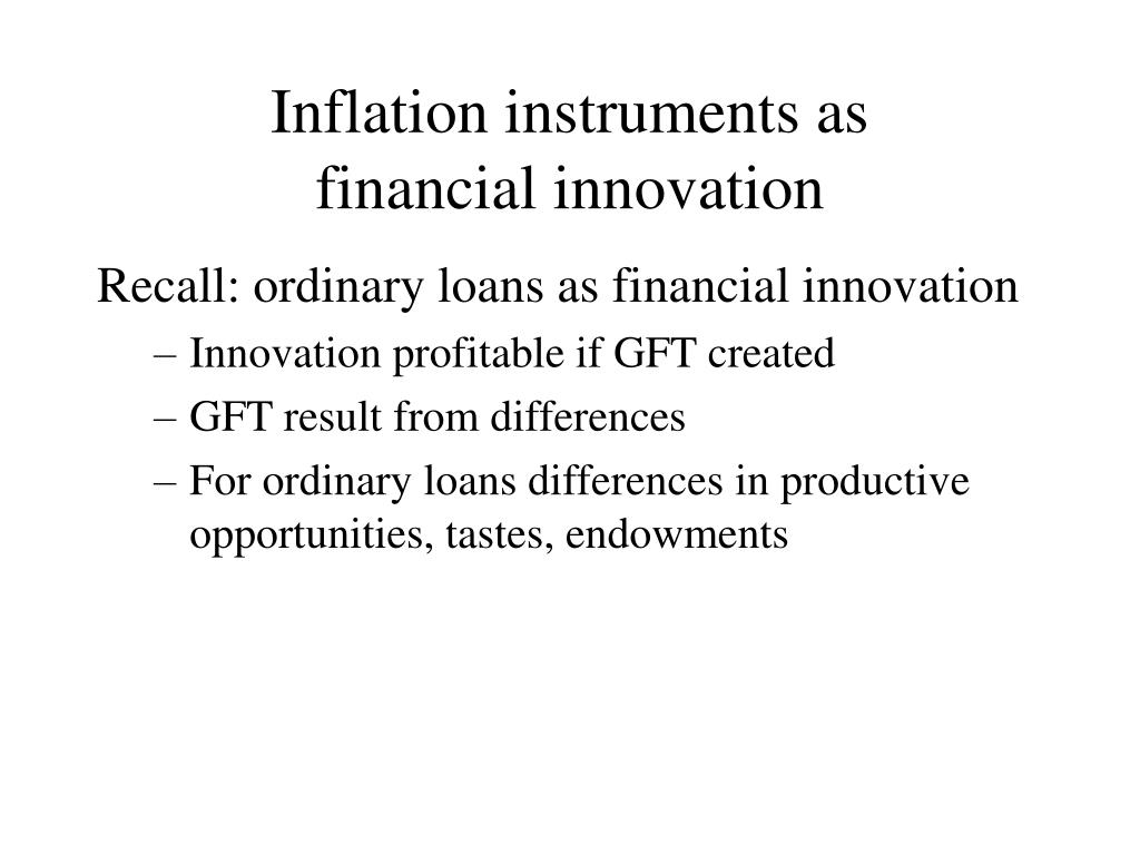 Inflation instruments as