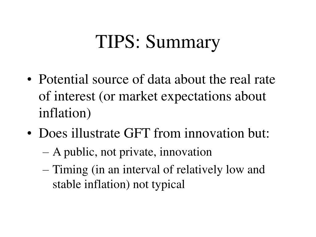 TIPS: Summary