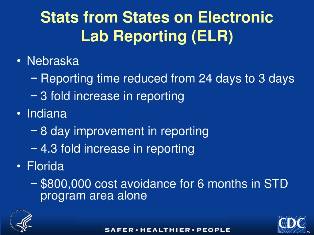 Electronic lab reporting