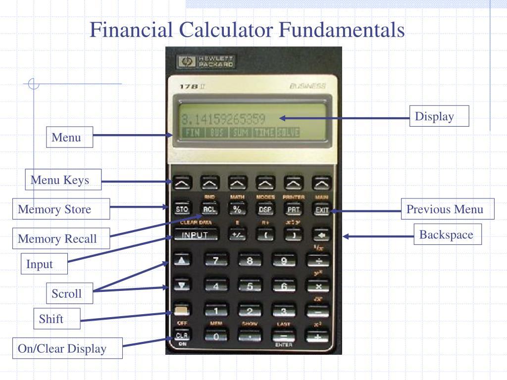 Financial Calculator Fundamentals