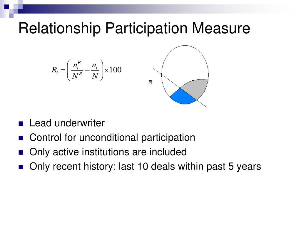 Relationship Participation Measure
