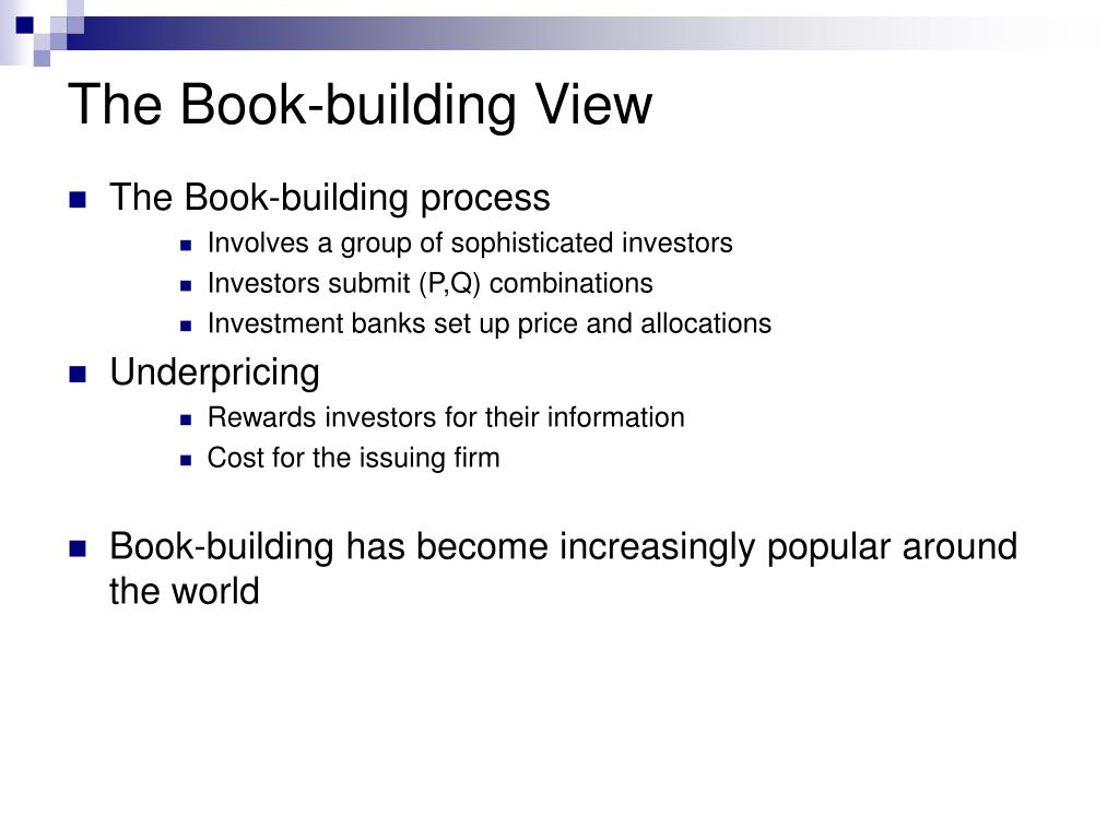 The Book-building View