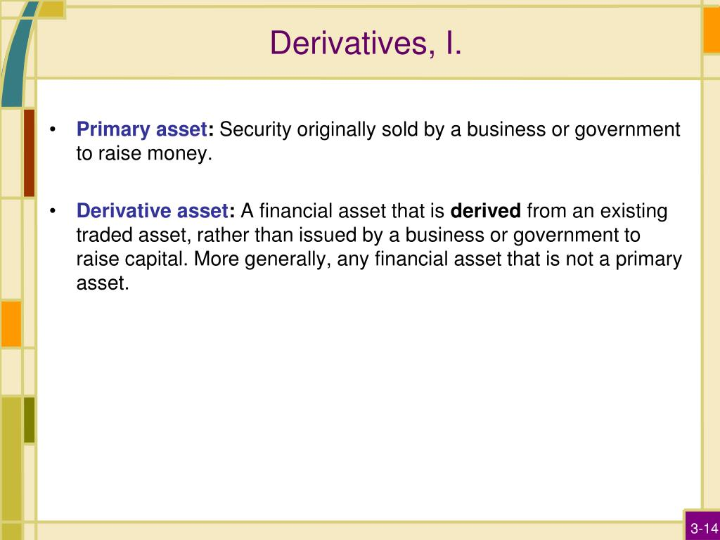 Derivatives, I.
