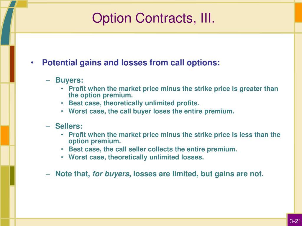 Option Contracts, III.