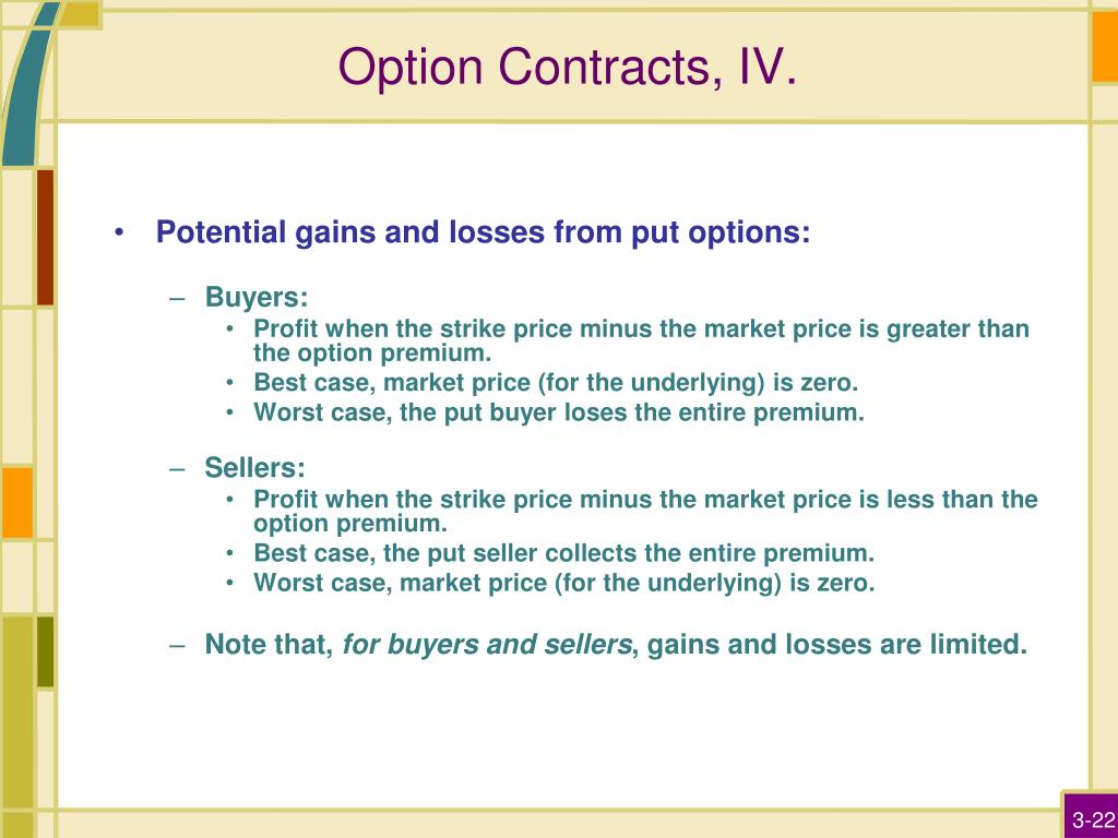 Option Contracts, IV.