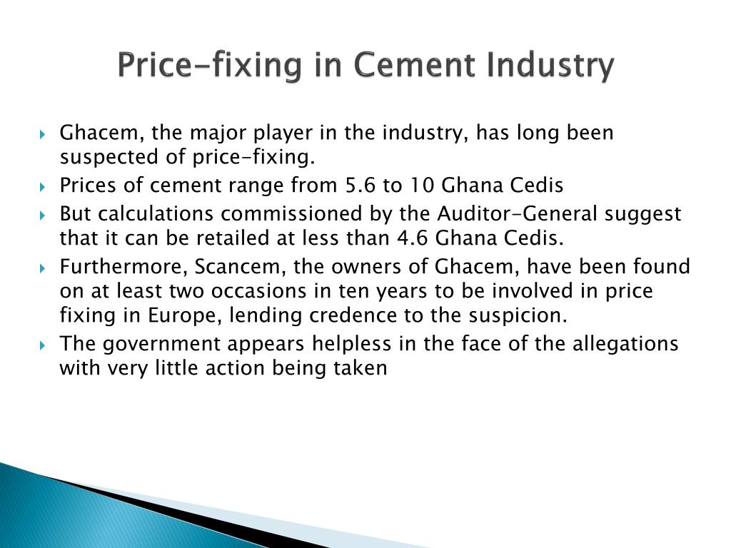 Price-fixing in Cement Industry