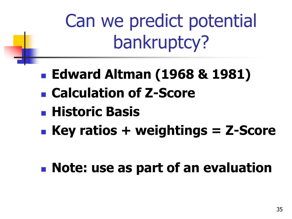 Can we predict potential bankruptcy?