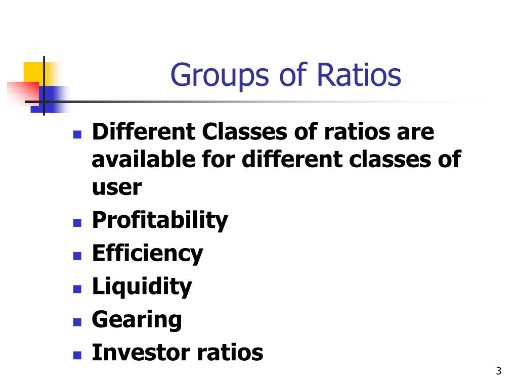 Groups of Ratios