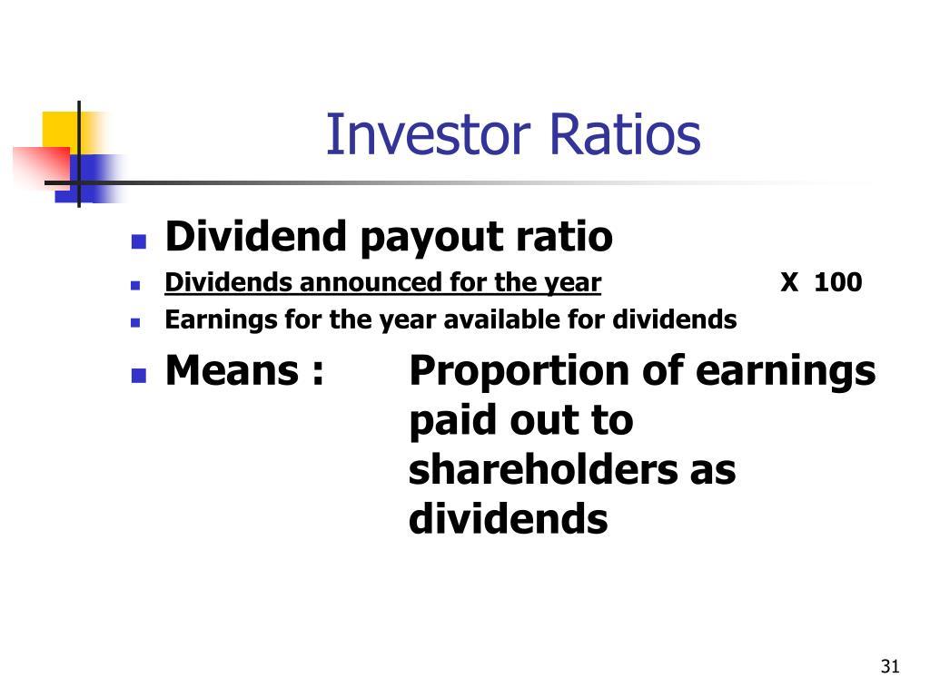 Investor Ratios