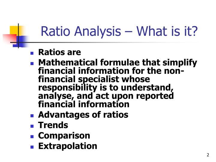 Ratio analysis what is it