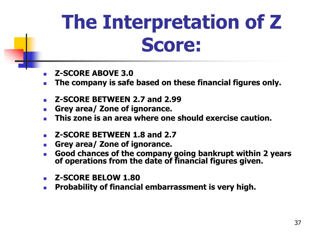 The Interpretation of Z Score: