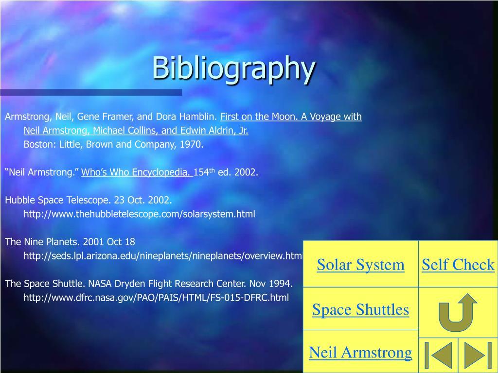 Armstrong, Neil, Gene Framer, and Dora Hamblin.