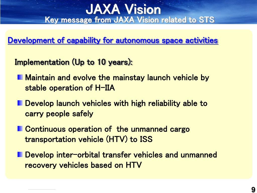 JAXA Vision