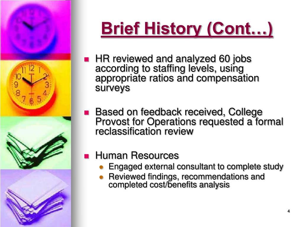 Brief History (Cont…)