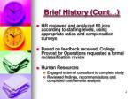 brief history cont