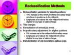 reclassification methods