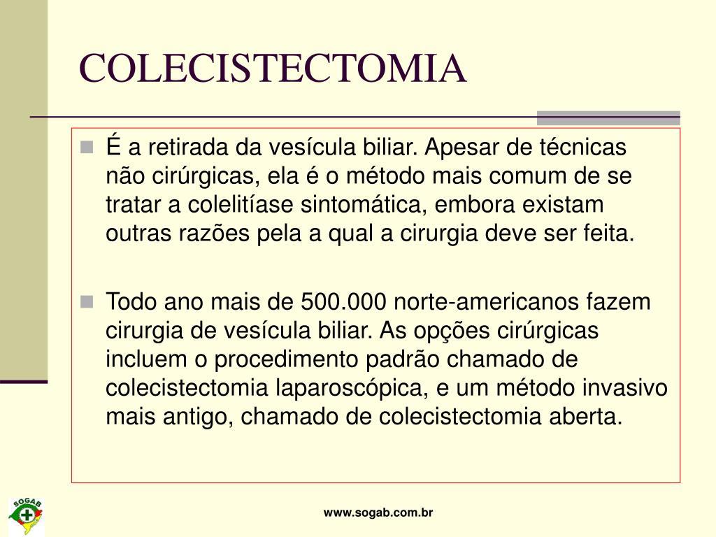 COLECISTECTOMIA