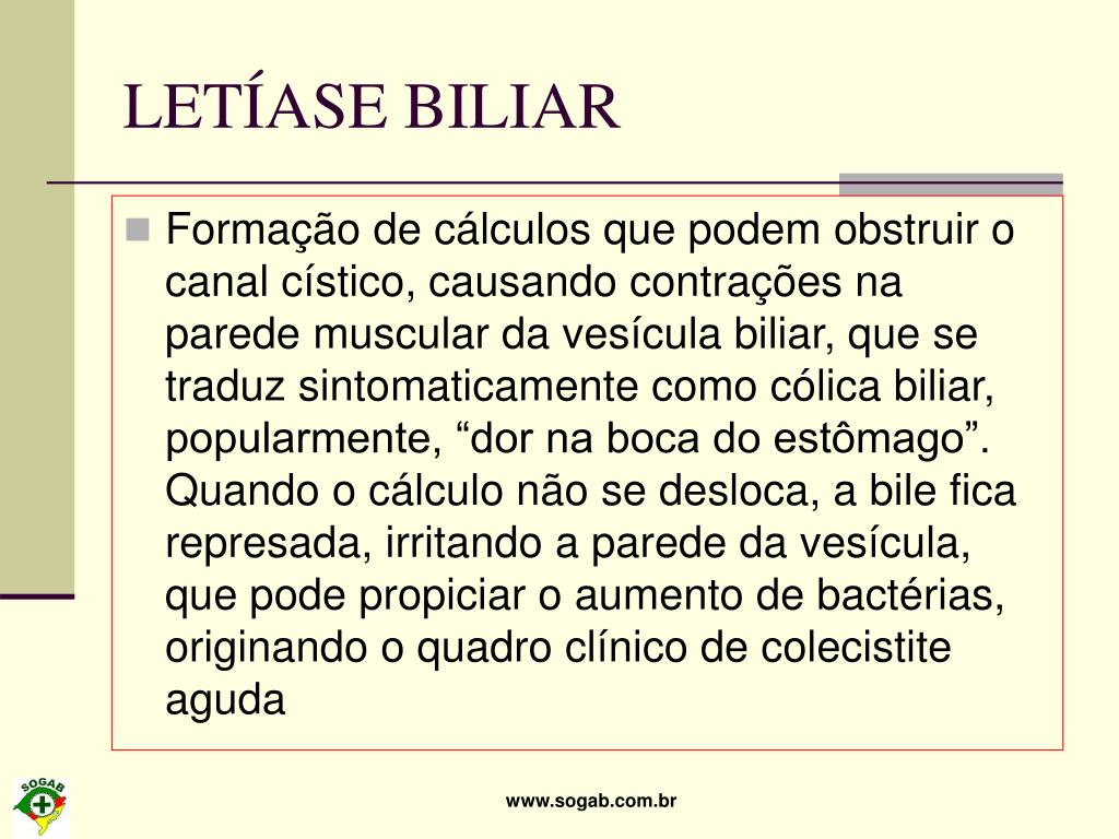 LETÍASE BILIAR