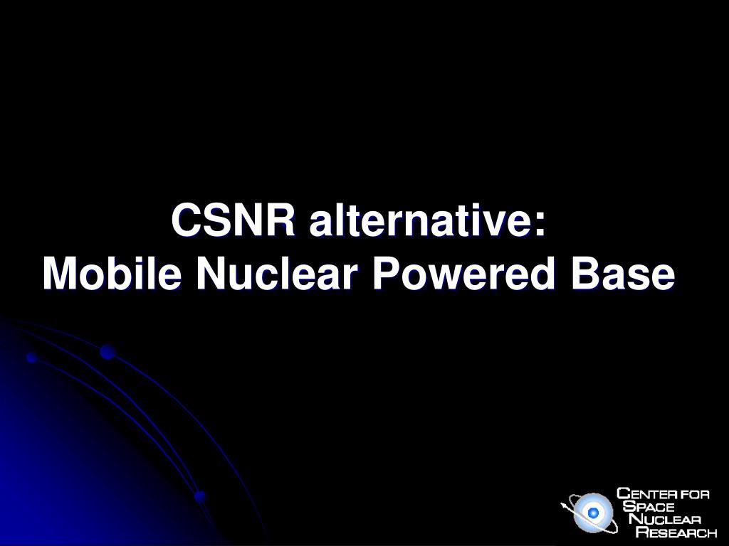 CSNR alternative:
