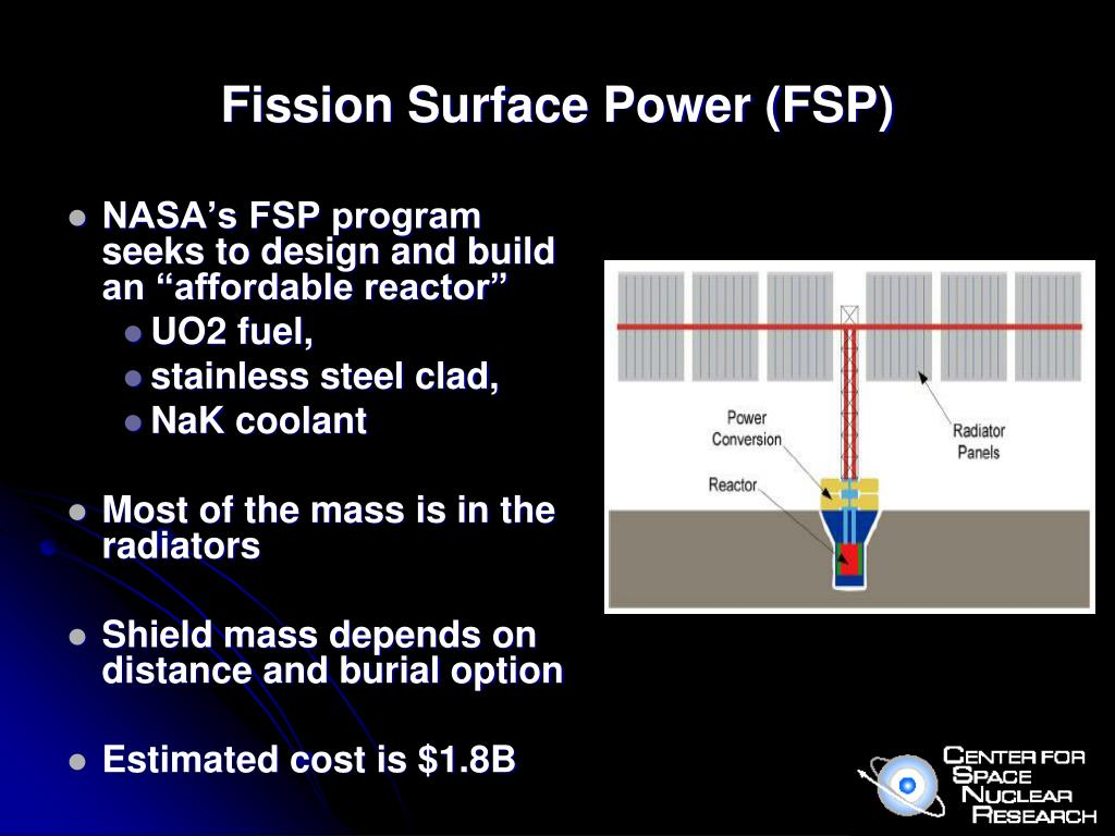 "NASA's FSP program seeks to design and build an ""affordable reactor"""