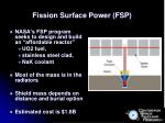 fission surface power fsp