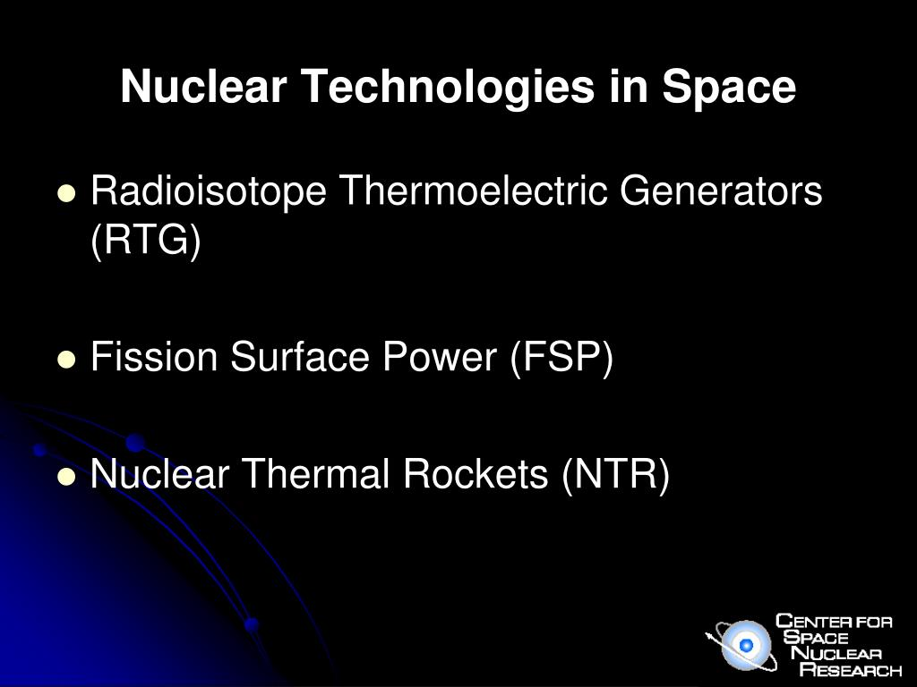 Nuclear Technologies in Space