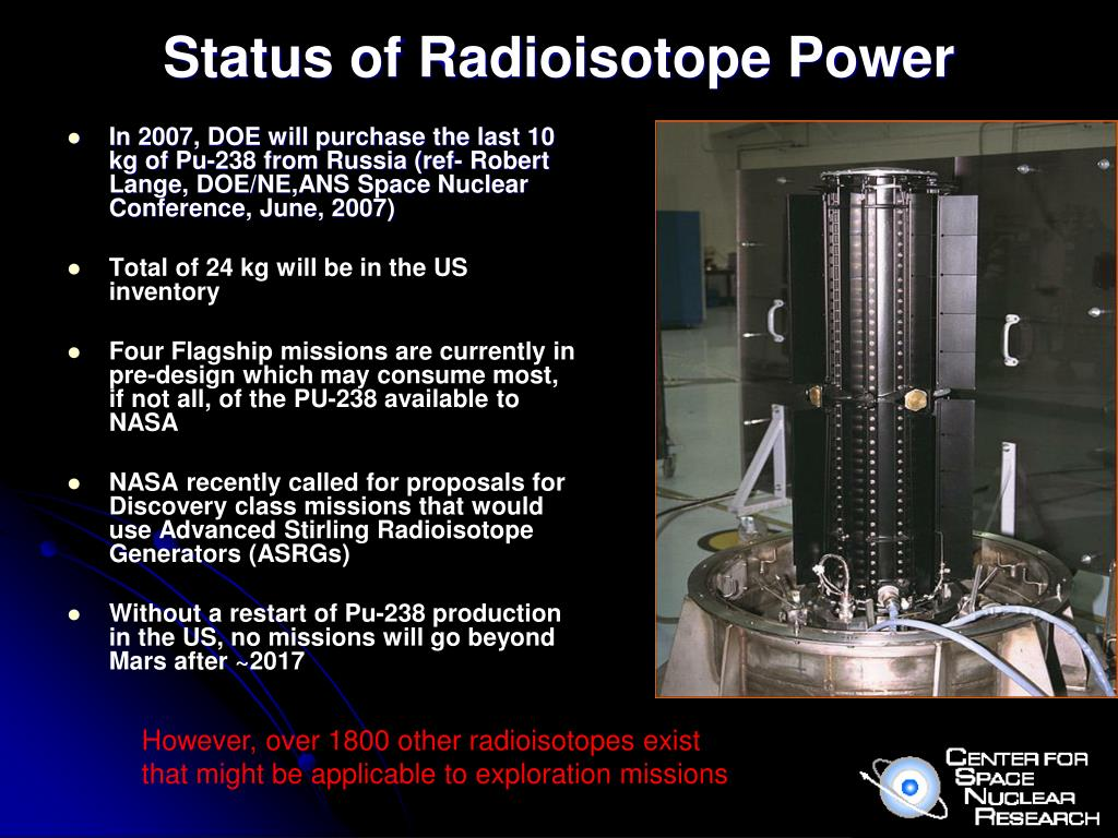 Status of Radioisotope Power