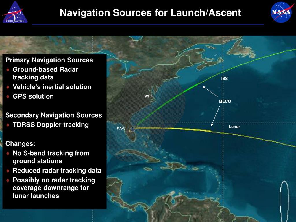 Navigation Sources for Launch/Ascent