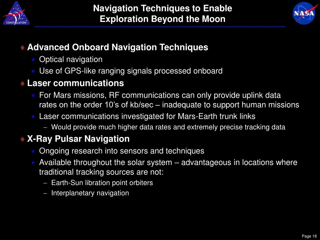 Navigation Techniques to Enable