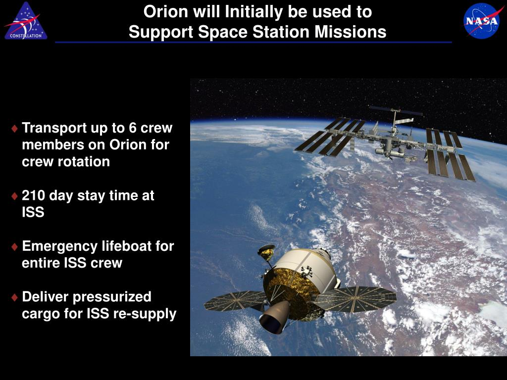 Orion will Initially be used to