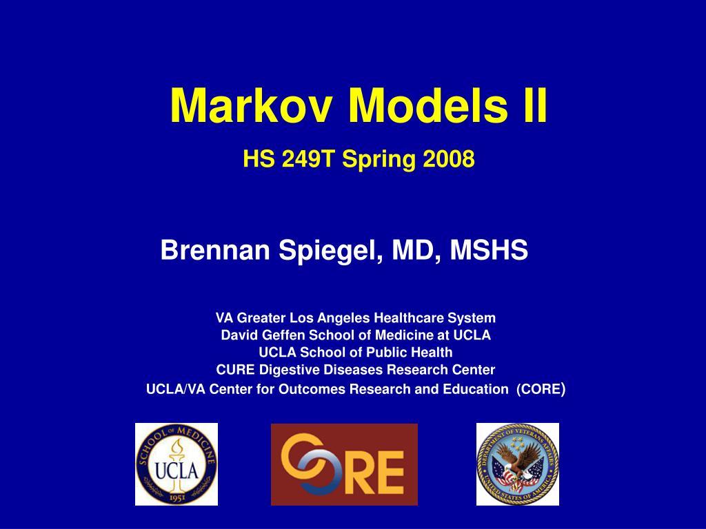 markov models ii