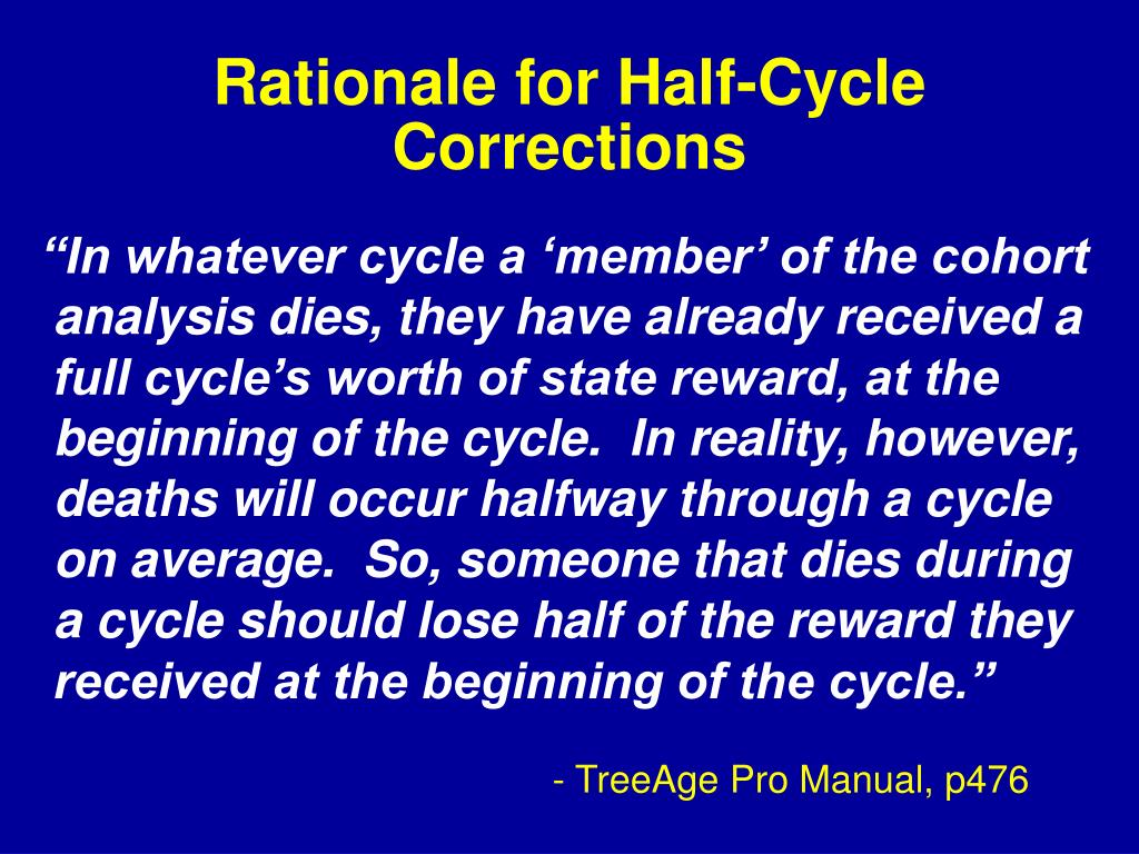 Rationale for Half-Cycle Corrections