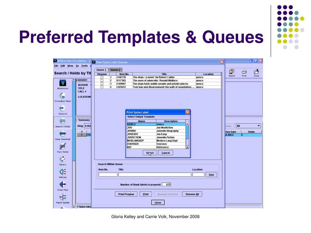 Preferred Templates & Queues