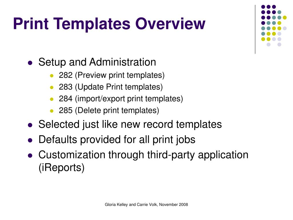 Print Templates Overview