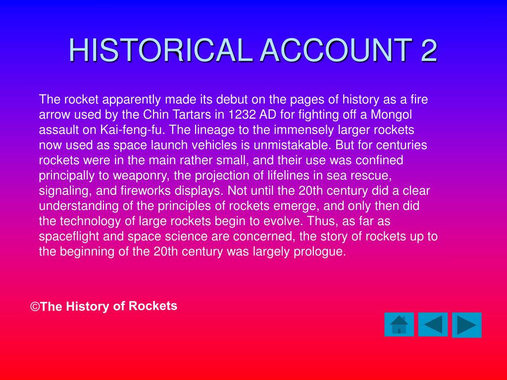HISTORICAL ACCOUNT 2
