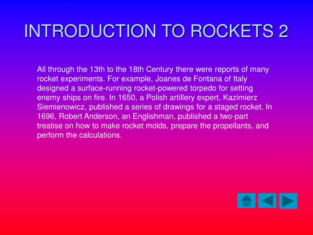 INTRODUCTION TO ROCKETS 2