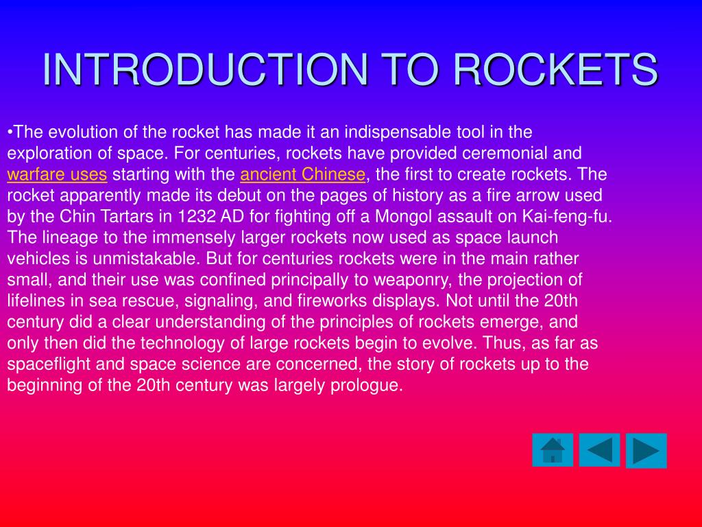 INTRODUCTION TO ROCKETS